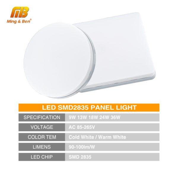 LED Panel Lamp LED Ceiling Light 48W 36W 24W 18W 13W 9W 6W Down Light Surface Mounted AC 85-265V Modern Lamp For Home Lighting 1