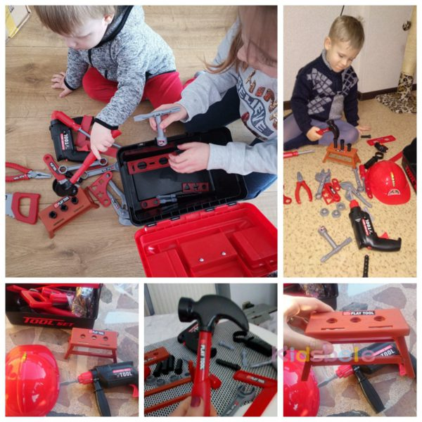 Kids Toolbox Kit Educational Toys Simulation Repair Tools Toys Drill Plastic Game Learning Engineering Puzzle Toys Gifts For Boy 5