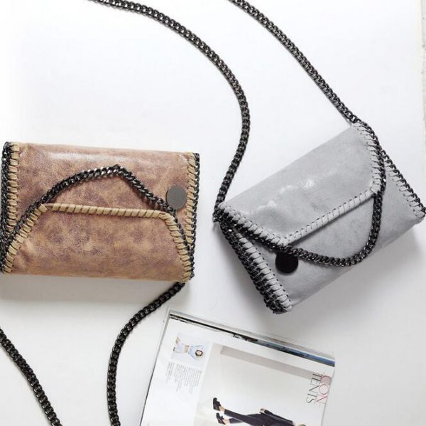 062317 new fashion women chains single shoulder cross body bag small bag day clutches bag 2