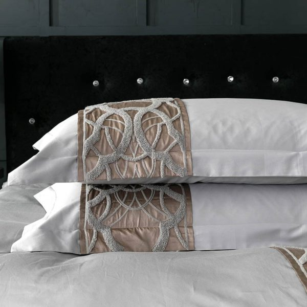 Grey white Bed Sheet Pillowcase Duvet cover set Luxury 60S Egyptian cotton queen king double size Bedding set Bed linen 5