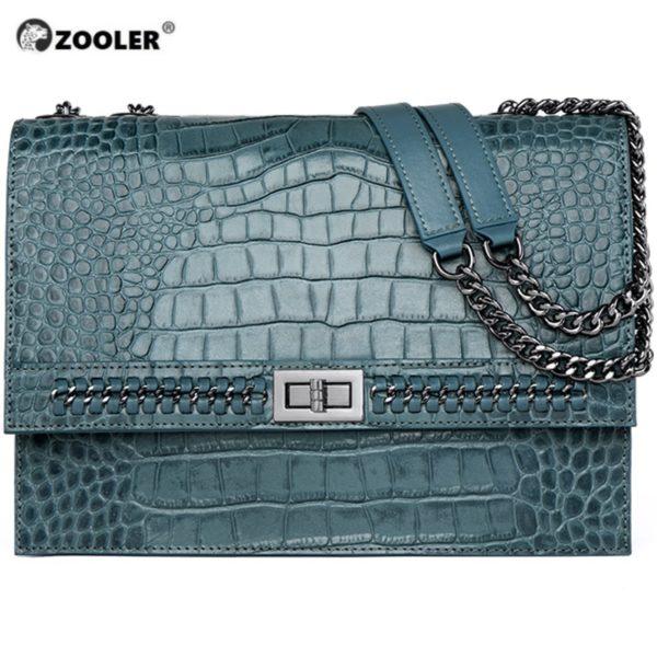 ZOOLER Luxury Brand Designer Genuine Leather Bags for women 2020 Cow Leather Woman Shoulder Bags Fashion Purses bolsa feminina 1