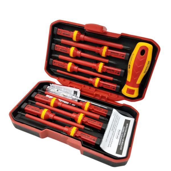 SPIFFLYER 13PC VDE Screwdriver Insulated Special Security Tool &7PC Insulated Screwdriver Set   CR-V High Voltage 1000V Durable 1