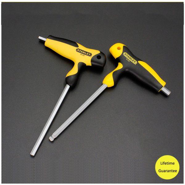 Stanley comfortable T-handle allen wrench 2mm/2.5mm/3mm/4mm/5mm/6mm/7mm/8mm/10mm T shape hexagon wrenches  t hex keys S2 steel