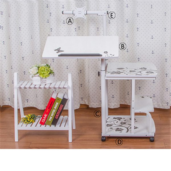 Large size Desktop  computer Table Adjustable Portable Laptop Desk Rotate Laptop Bed Table Can be Lifted Standing Desk 3