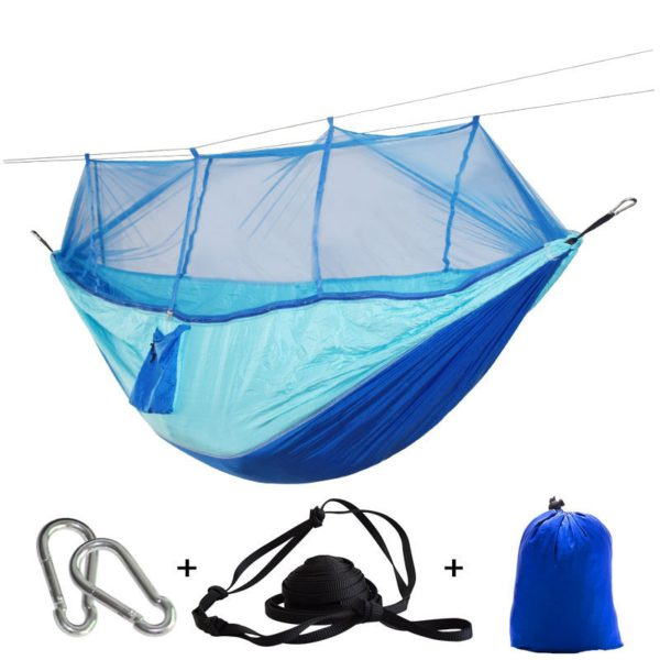 Portable Mosquito Net Hammock Tent With Adjustable Straps 1