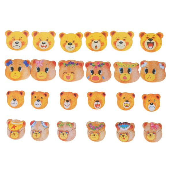 little bear change clothes Children's early education Wooden jigsaw Puzzle Dressing game Baby Wooden Puzzle toys free shipping 4