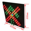 Factory price High way toll station traffic guidance light 400mm stop go red green traffic light 1
