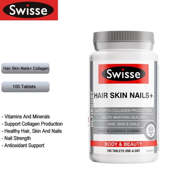 Australia Swisse Hair Skin Nails Collagen Tablets 2