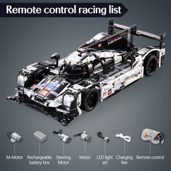 cada 1589PCS RC/non-RC Endurance racing Car Building Blocks For Technic MOC Model Remote Control vehicle Toys for kids 5