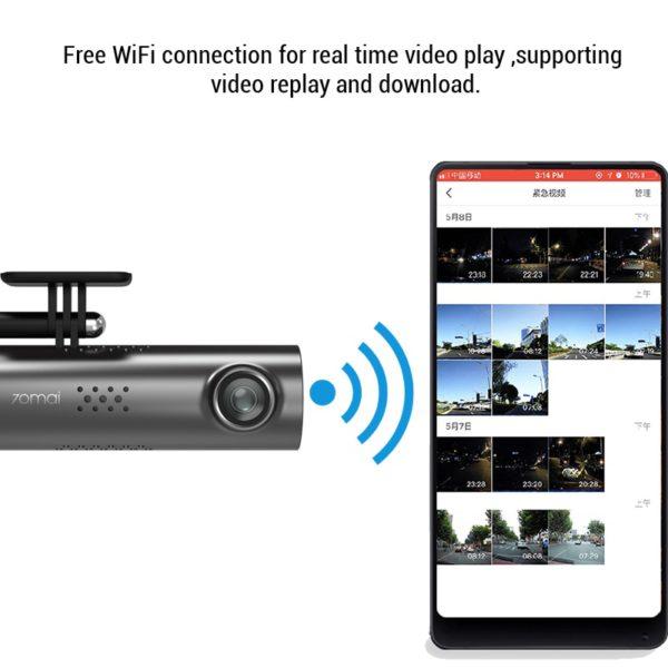 70mai Dash Cam Car DVR Wifi APP Voice Control 70 Mai Dash Cam 1S FHD 1080P Night Vision Car Camera Auto Video Recorder G-sensor 3