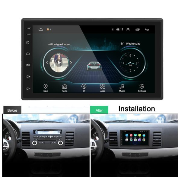 Podofo 2 din Car Radio 2.5D GPS Android Multimedia Player Universal 7 2