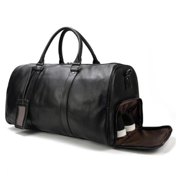 MAHEU Natural Cow Skin Travel Bags Waterproof Men's Leather Luggage  1