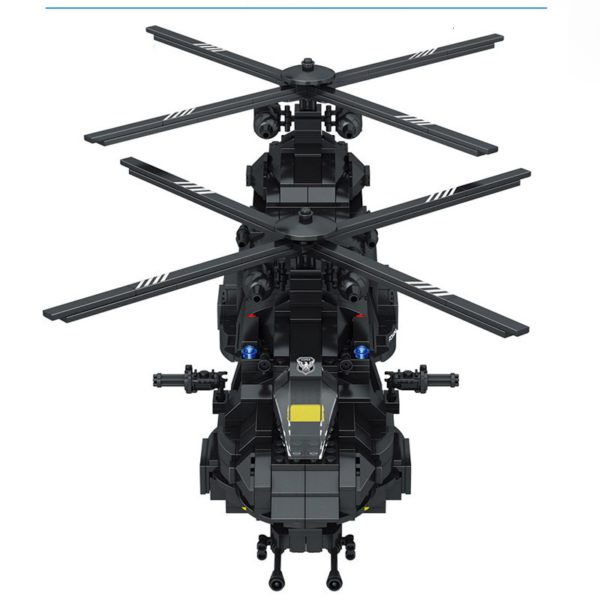 1351pcs Military Swat Team Special Police Force Transport Helicopter Building Blocks City Army Bricks Educational DIY Toy 2