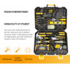 DEKO Household Tool Set General Hand Tool Kit with Plastic Tool box Storage Case Combination Hammer Socket Wrench Screwdriver 1