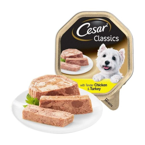 Cesar Classics canned food for dogs (paste), Turkey and the lamb, 7*150 1