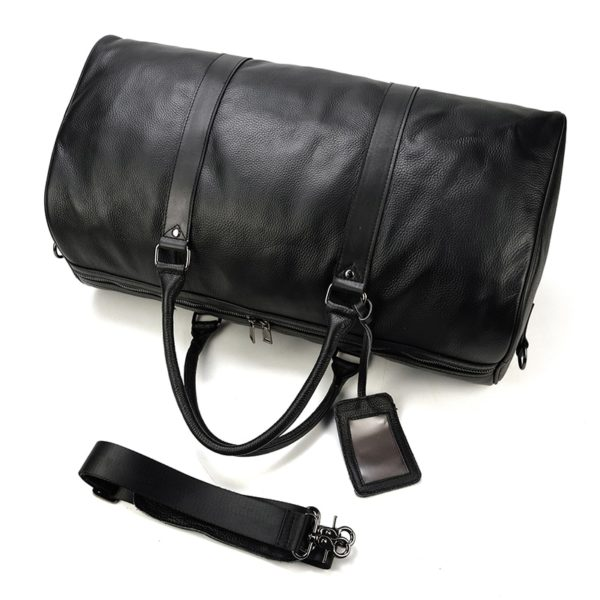 MAHEU Natural Cow Skin Travel Bags Waterproof Men's Leather Luggage  3