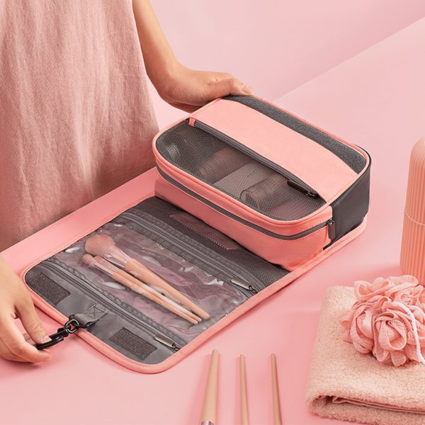 HMUNII Travel Cosmetics Storage Bag Women Waterproof Oxford Makeup Bags Bathroom Organizer Of Portable Bath Hook Toiletry Bags