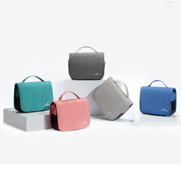 HMUNII Travel Cosmetics Storage Bag Women Waterproof Oxford Makeup Bags Bathroom Organizer Of Portable Bath Hook Toiletry Bags 5