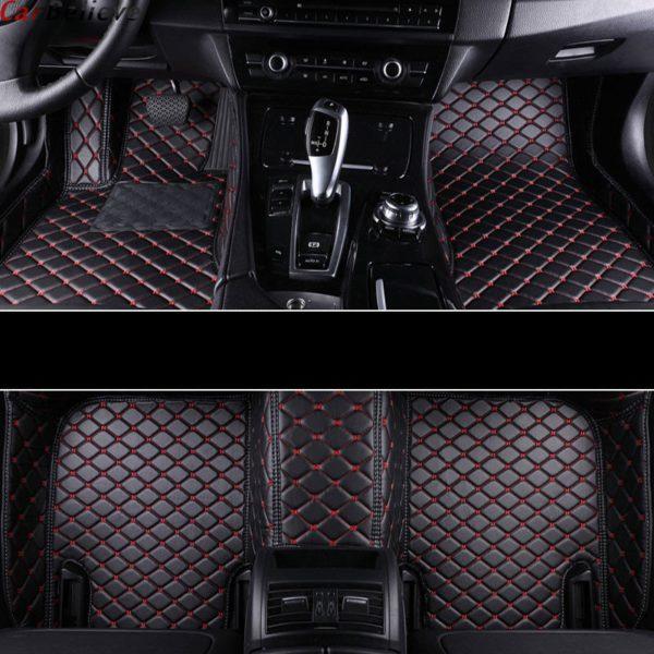 Car Believe car floor mat For hyundai veloster tucson 2019 accent 2008 sonata 2011 solaris 2011 elantra accessories carpet rugs 5