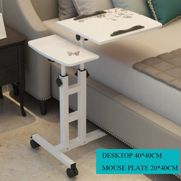 Foldable Computer Table  64*40CM Adjustable Portable Laptop Desk Rotate Laptop Bed Table Can be Lifted Standing Desk 1