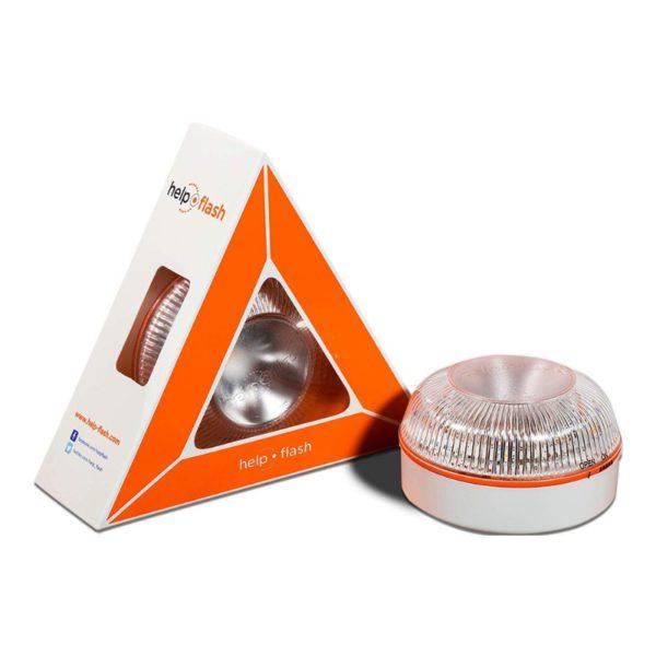 Help flash - Luz de emergencia autónoma - Señal v16 de preseñalización de peligro, homologada DGT