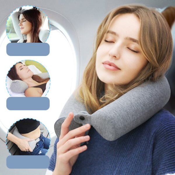 HMUNII Memory Foam Neck Pillow Soft U Shaped Slow Rebound Shipping Neck Cervical Space Travel Health care For Travel Accessories 5