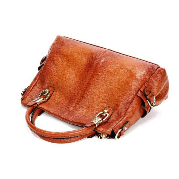 Luxury Brand Women Leather Handbag Genuine Leather Casual Tote Bags Female Big Shoulder Bags for Women Purses Bolsas 2020 C1262 1