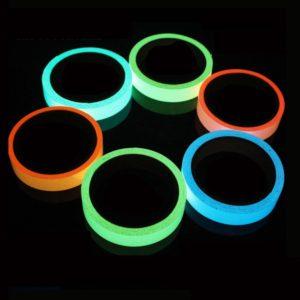 Reflective Glow Tape Self-adhesive Sticker Removable Luminous Tape Fluorescent Glowing Dark Striking Night Warning Tape