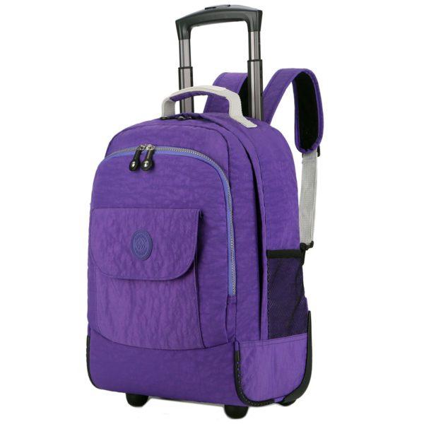 Rolling Luggage Travel Backpack Shoulder Spinner Backpacks 2