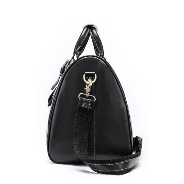 WESTAL Men Genuine Leather Travel Bag for Luggage 3