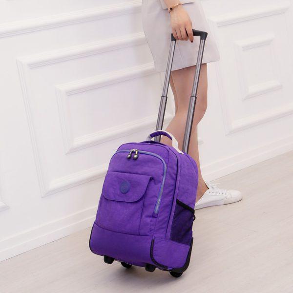 Rolling Luggage Travel Backpack Shoulder Spinner Backpacks 3