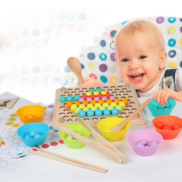 Kids Toys Montessori Wooden Toys Hands Brain Training Clip Beads Puzzle Board Math Game Baby Early Educational Toys For Children 2