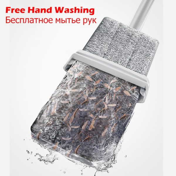 NEW 2 in 1 Spray Mop Free Hand Washing Flat Mop Lazy 360 Rotating Magic Mop With Squeezing Floor Cleaner Household Cleaning Tool 2