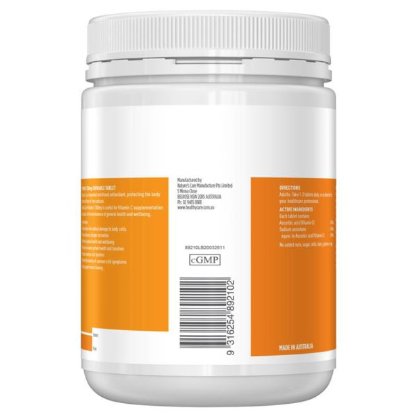 Healthy Care Vitamin C 500mg VC Chewable 500Tabs 2