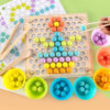 Kids Toys Montessori Wooden Toys Hands Brain Training Clip Beads Puzzle Board Math Game Baby Early Educational Toys For Children 4