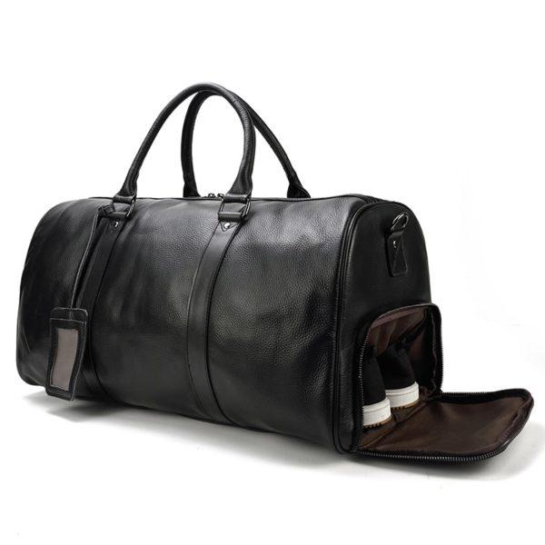 MAHEU Natural Cow Skin Travel Bags Waterproof Men's Leather Luggage  4