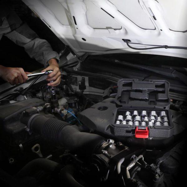 "WORKPRO 24PC Tool Set Torque Wrench Socket Set 3/8"" Ratchet Wrench Socket Spanner 5"