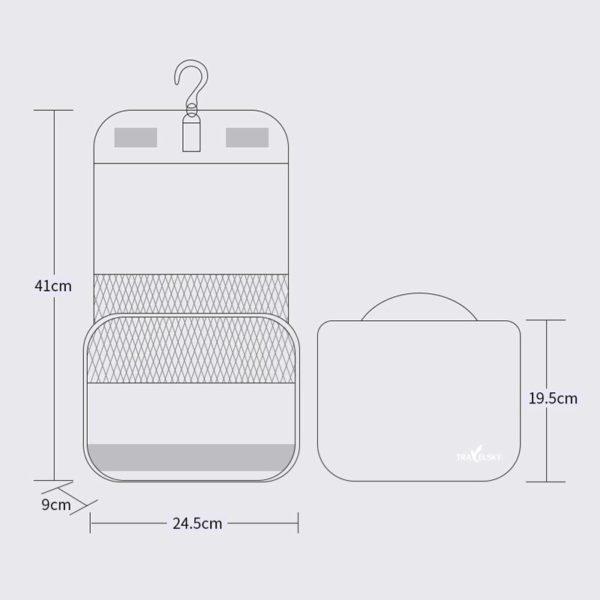 HMUNII Travel Cosmetics Storage Bag Women Waterproof Oxford Makeup Bags Bathroom Organizer Of Portable Bath Hook Toiletry Bags 1
