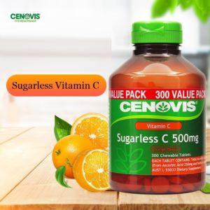 Australia Cenovis Sugarless Vitamin C 500mg 300Tablets