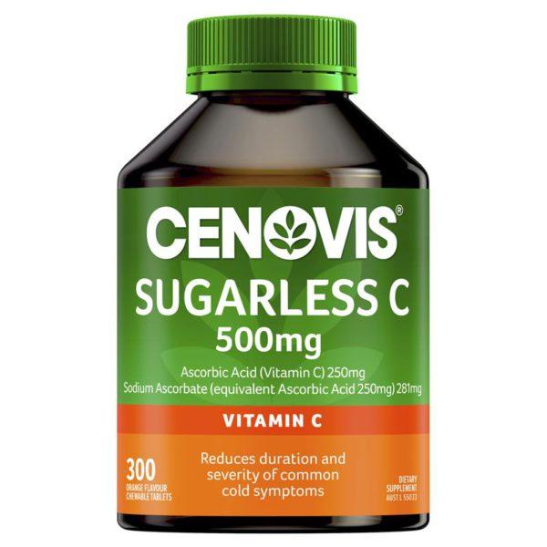 Australia Cenovis Sugarless Vitamin C 500mg 300Tablets 5