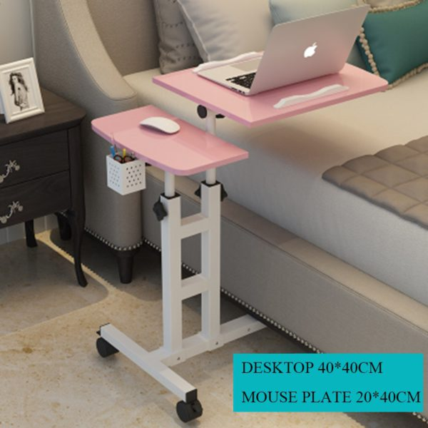 Foldable Computer Table  64*40CM Adjustable Portable Laptop Desk Rotate Laptop Bed Table Can be Lifted Standing Desk 2