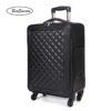 BeaSumore Retro Leather Rolling Luggag 2