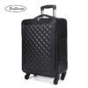 BeaSumore Retro Leather Rolling Luggag 2