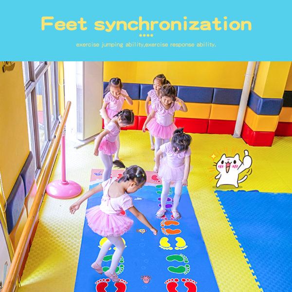 Kid's Jumping Carpet Baby Jump Lattice  Kindergarten Team Game Pad Early Childhood Fun Toys Child Indoor Outdoor Sports Toys 1