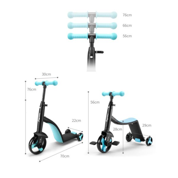 Nadle Children Scooter Tricycle Baby 3 In 1 Balance Bike Ride On Toys Kids Bike 2
