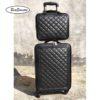BeaSumore Retro Leather Rolling Luggag 3