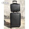 BeaSumore Retro Leather Rolling Luggag 3