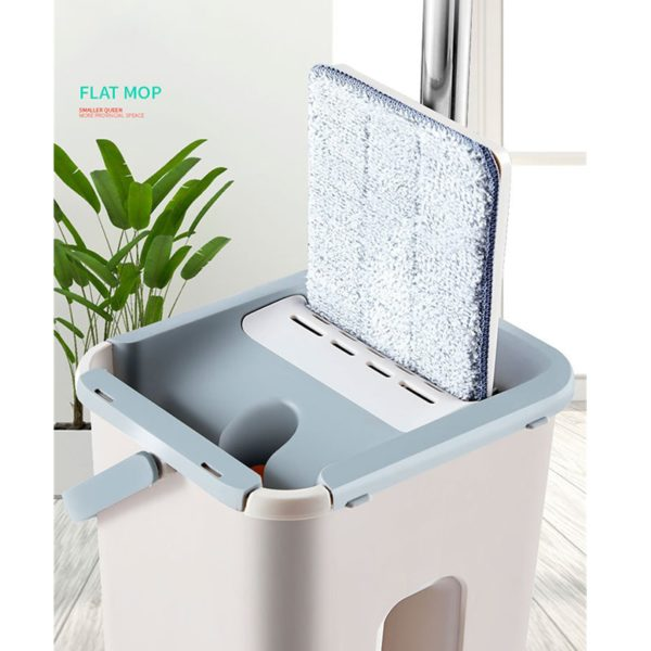Free Hand Washing Flat Mop with Bucket Lazy 360 Rotating Magic Mop With Squeezing Floor Cleaner Mop Household Cleaning Tool 2