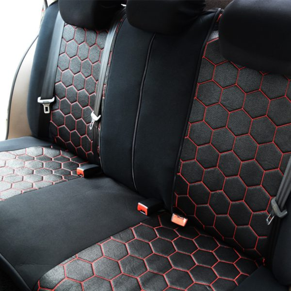 AUTOYOUTH Soccer Ball Style Car Seat Covers Jacquard Fabric Universal Fit Most Brand Vehicle Interior Accessories Seat Covers 2