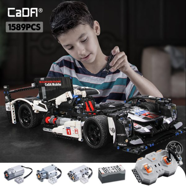 cada 1589PCS RC/non-RC Endurance racing Car Building Blocks For Technic MOC Model Remote Control vehicle Toys for kids